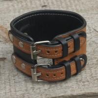 Кожаный браслет для часов ручной работы